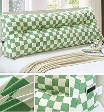 HZZ-KZ Double Bedside Kissen Soft Bag Dreieckige große Rückenlehne Bett Sofa Lange Kissen kann abnehmbare Wäsche Taille Kissen Taille (farbe : A5, größe : 150cm)