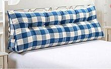 HZZ-KZ Dreieck große Kissen Bedside Soft Bag Doppelte Paar Kissen Sofa Kissen (Farbe : A2, größe : 120cm)