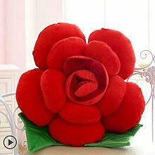 HZZ-KZ Kissen Roses Kissen Stoff Puppe Sofa Sofa Kissen, kreative Puppe Großes Geburtstagsgeschenk (Farbe : A4, größe : 40 cm)
