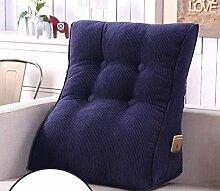 HZZ-KZ Neck Care Taille Kissen Bedside Rückenlehne Dreieckige Sofa Kissen Bett Soft Bag Taille Kissen abnehmbare waschbar (Farbe : A1, größe : 55X60cm)