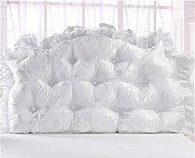 HZZ-PILLOW Cotton Bed Soft Paket Große Rückenlehne / Bett / Kissen / Doppel / Lange Kissen Bett Rückenpolster ( Farbe : A2 , größe : 150cm )