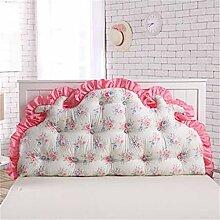 HZZ-PILLOW Cotton Nordic Bedside Soft Rückenlehne Bett Kissen Double Long Kissen Bett Rückenpolster ( Farbe : A2 , größe : 120cm )