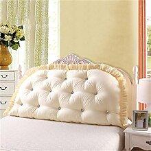 HZZ-PILLOW Großes Sofa Kissen Baumwolle Doppel lange Kissen Kissen Bett Rückenlehne ( Farbe : A4 , größe : 150*80cm )