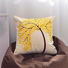 HZZ-PILLOW Nordic Cotton Pillow Fashion Einfache Sofa Back Office Car Bett Taille Kissen Sub Cushion ( Farbe : A4 , größe : 45*45cm )