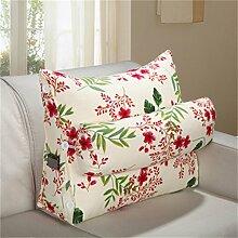 HZZ-PILLOW Triangle Bett Kissen Sofa Kissen Kissen Nachttisch Kissen Büro Lenden (waschbar) ( Farbe : A4 , größe : 60 )