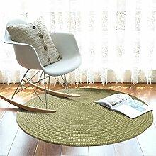 HZZ-Teppich Woven Runde Teppich Computer Stuhl