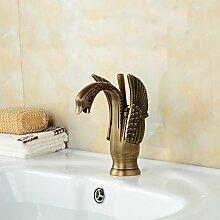 hzzymj-bronze Finish Little Swan Waschbecken