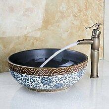 hzzymj-centerset Waschbecken Wasserhahn mit Loch,