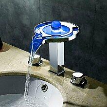 hzzymj-contemporary Waschbecken-Wasserhahn, LED,