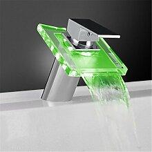 hzzymj-glass Wasserfall Waschbecken Wasserhahn