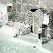 hzzymj-modern Waschbecken Wasserfall Wasserhahn