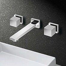 hzzymj-universal Chrome Zwei Griff Waschbecken