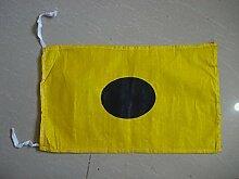 I–International Maritime Signal Code Flagge, 100% Baumwolle, 20,3x 33cm–Marine/Nautical/Boo
