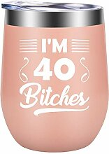 I'm 40 Wine Tumbler I Perfect 40th Birthday