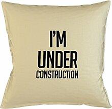 I'm Under Construction Gym Fit Komisch Kissenbezug Haus Sofa Bett Dekor Beige
