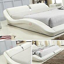 i-flair® - Polsterbett 180x200 cm T0W Weiß -