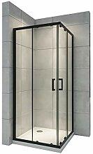i-flair Duschkabine 75x90 cm mit Schiebetüren,