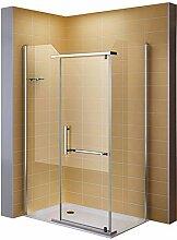 i-flair Duschkabine Eckkabine Dusche aus 8mm ESG