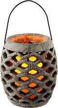 I.GE.A. LED-Leuchte Keramik Windlicht mit LED,