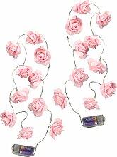I.GE.A. LED-Lichterkette 1,35 m rosa