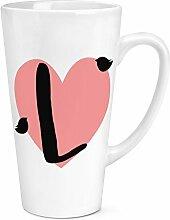 I Herz Alphabet 17oz groß Latte Becher Tasse