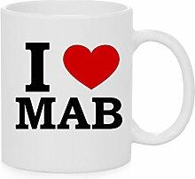I herz MAB ( Love ) Offizielles Tasse