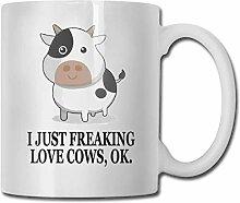 I-Just-Freaking-Love-Cows, OK 330ml Tasse Keramik