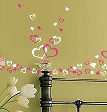 i.LifeUK Fensteraufkleber, 90 Small Hearts,