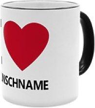 I Love ... - Personalisierter Kaffeebecher (Farbe: