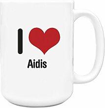 I love AIDIS Big 444ml Becher 1162