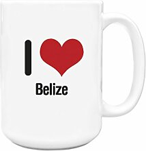 I love BELIZE Big 444ml Becher 1403