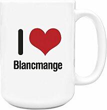 I love BLANCMANGE Big 444ml Becher 1892