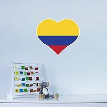 I Love Colombia Vinyl Wall Art Sticker/ Wandaufkleber / Wandtattoo