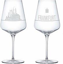 I LOVE Frankfurt Weingläser 2er Set | Weinglas