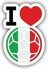 I Love Italy Football - Self-Adhesive Sticker Car