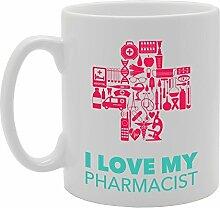 I love my Apotheker Funny Tasse Kaffee Becher mit