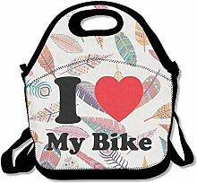 I Love My Bike Lunch Bag Lunch Tote