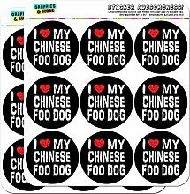 I love my Chinesischer Foo Dog Stylisch 5cm (5,1cm) Scrapbooking, Aufkleber