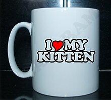 I love my kitten Neuheit Bedruckte Tee/Kaffee