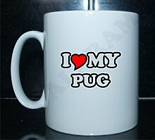 I love my pug Neuheit Bedruckte Tee/Kaffee Tasse,