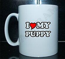 I love my Puppy Neuheit Bedruckte Tee/Kaffee