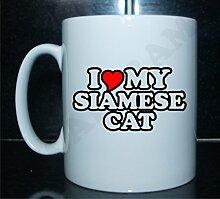 I love my SIAMESE CAT Novelty Bedruckte Tee/Kaffee