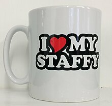 I love my Staffy Neuheit Bedruckte Tee/Kaffee