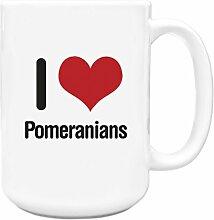 I love pomeraner Big 444ml Becher 1285