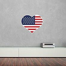 I Love United States Of America Vinyl Wall Art Sticker/ Wandaufkleber / Wandtattoo