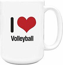 I love VOLLEYBALL Big 444ml Becher 1138
