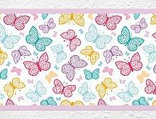 I-love-Wandtattoo b-10040 Kinderzimmer Bordüre Farbenfrohe Schmetterlinge Tiermotiv Tapete Kinder