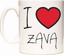 I Love ZAVA Becher von WeDoMugs