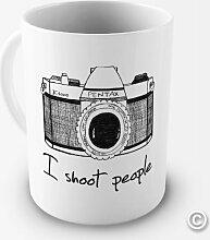 I SHOOT People Fotograf Tasse–tolle Geschenkidee–Spülmaschinenfest und mikrowellengeeigne
