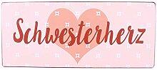 i.stHOME Blechschild - Schwesterherz - Vintage